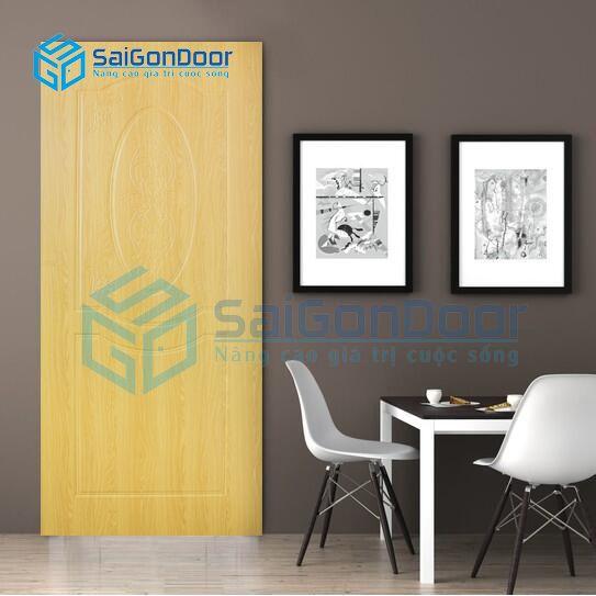 Cửa nhựa vân gỗ căn hộ cao cấp SYB.243-B06